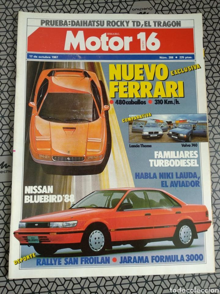 Coleccionismo de Revistas y Periódicos: Lote 25 revistas Motor 16 año 1987 - Foto 20 - 174423218