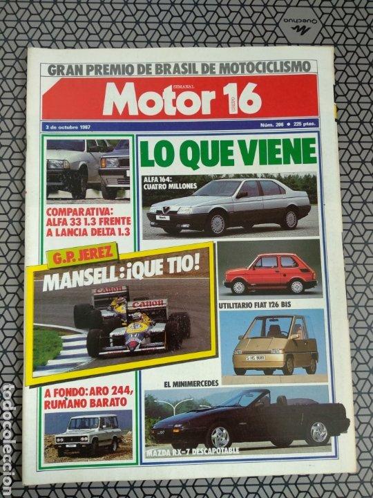 Coleccionismo de Revistas y Periódicos: Lote 25 revistas Motor 16 año 1987 - Foto 21 - 174423218