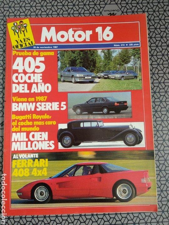 Coleccionismo de Revistas y Periódicos: Lote 25 revistas Motor 16 año 1987 - Foto 23 - 174423218