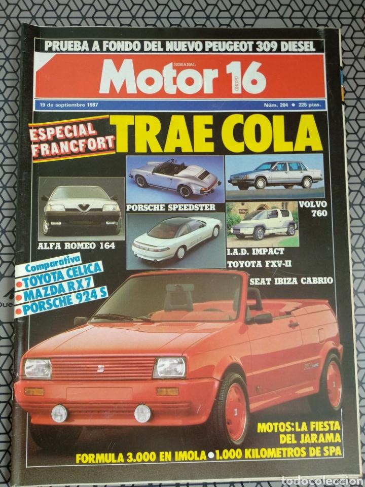 Coleccionismo de Revistas y Periódicos: Lote 25 revistas Motor 16 año 1987 - Foto 24 - 174423218