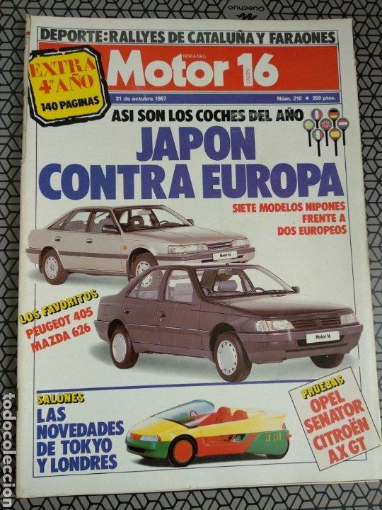 Coleccionismo de Revistas y Periódicos: Lote 25 revistas Motor 16 año 1987 - Foto 2 - 174423218