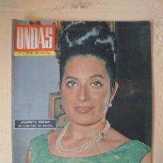 Coleccionismo de Revistas y Periódicos: JUANITA REINA REVISTA ONDAS N.277 JUNIO 1964.. Lote 174434733
