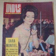 Coleccionismo de Revistas y Periódicos: SARA MONTIEL REVISTA ONDAS N.238 NOVIEMBRE 1962.. Lote 174435603
