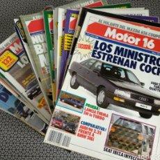 Coleccionismo de Revistas y Periódicos: LOTE 40 REVISTAS MOTOR 16 AÑO 1988. Lote 174437129