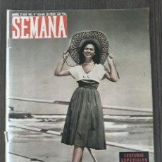 Coleccionismo de Revistas y Periódicos: LOTE DE 41 REVISTAS SEMANA DEL 1952 - MADRID, SEMANA AÑO XII – 1951- PRECIO: 4 PTAS.. Lote 174456123