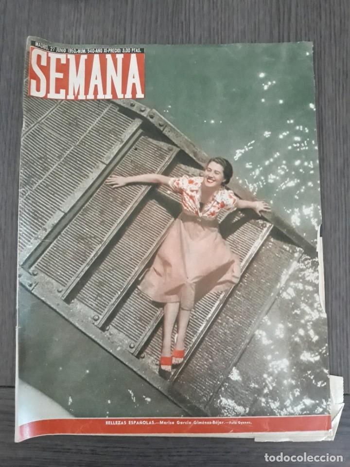 LOTE DE 14 REVISTAS SEMANA DEL 1950 - MADRID, SEMANA AÑO XI – 1950 - PRECIO: 4 PTAS. (Coleccionismo - Revistas y Periódicos Modernos (a partir de 1.940) - Otros)