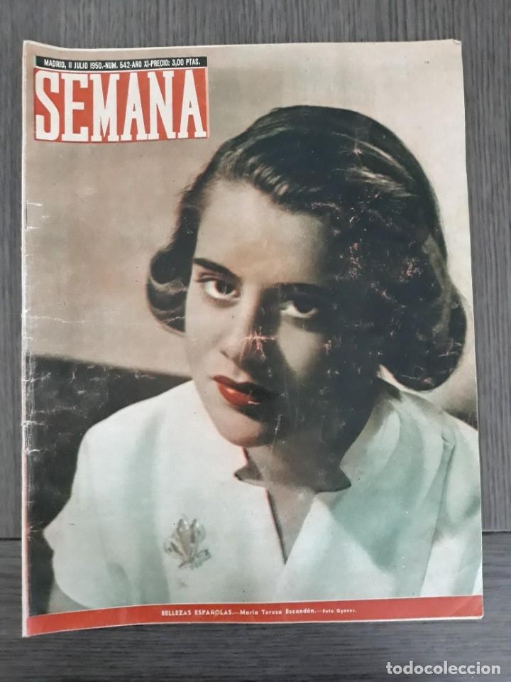 Coleccionismo de Revistas y Periódicos: Lote de 14 revistas Semana del 1950 - Madrid, Semana Año XI – 1950 - Precio: 4 PTAS. - Foto 3 - 174456717