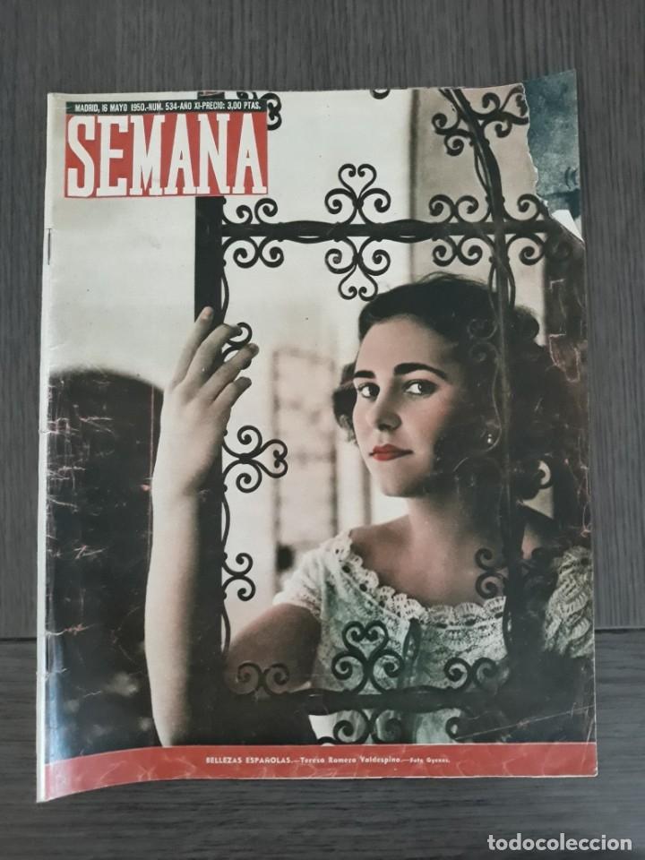 Coleccionismo de Revistas y Periódicos: Lote de 14 revistas Semana del 1950 - Madrid, Semana Año XI – 1950 - Precio: 4 PTAS. - Foto 5 - 174456717