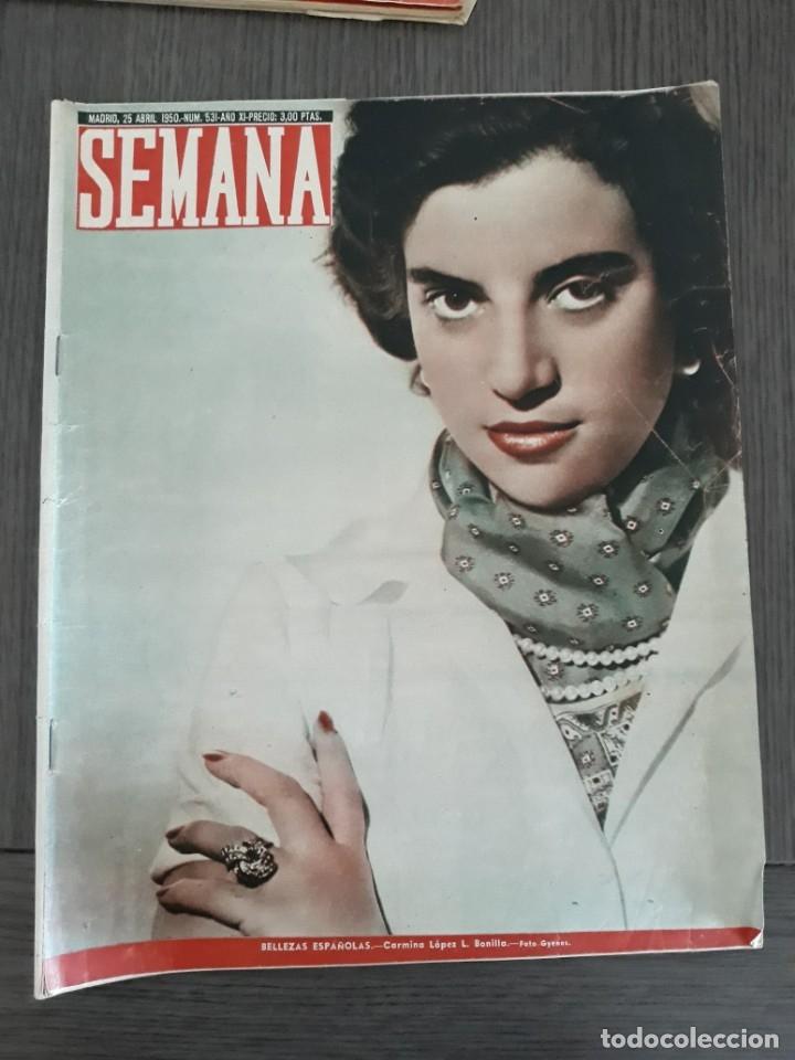 Coleccionismo de Revistas y Periódicos: Lote de 14 revistas Semana del 1950 - Madrid, Semana Año XI – 1950 - Precio: 4 PTAS. - Foto 7 - 174456717