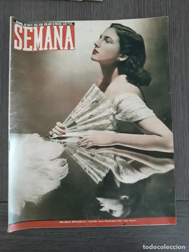 Coleccionismo de Revistas y Periódicos: Lote de 14 revistas Semana del 1950 - Madrid, Semana Año XI – 1950 - Precio: 4 PTAS. - Foto 9 - 174456717