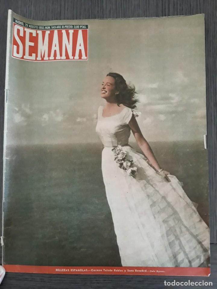 Coleccionismo de Revistas y Periódicos: Lote de 14 revistas Semana del 1950 - Madrid, Semana Año XI – 1950 - Precio: 4 PTAS. - Foto 11 - 174456717