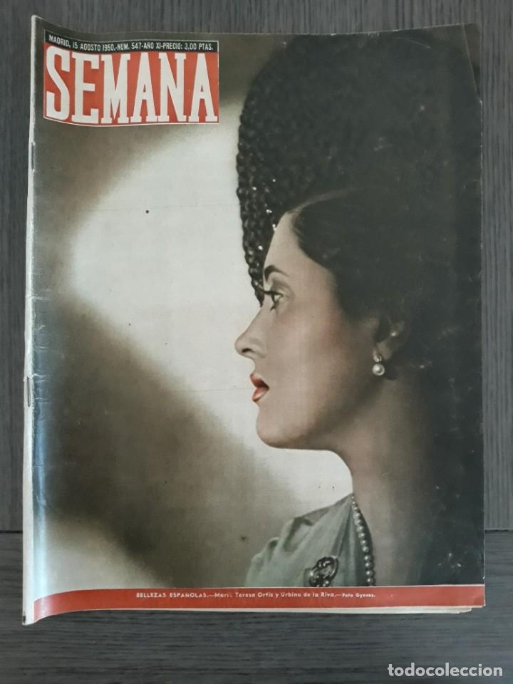 Coleccionismo de Revistas y Periódicos: Lote de 14 revistas Semana del 1950 - Madrid, Semana Año XI – 1950 - Precio: 4 PTAS. - Foto 13 - 174456717