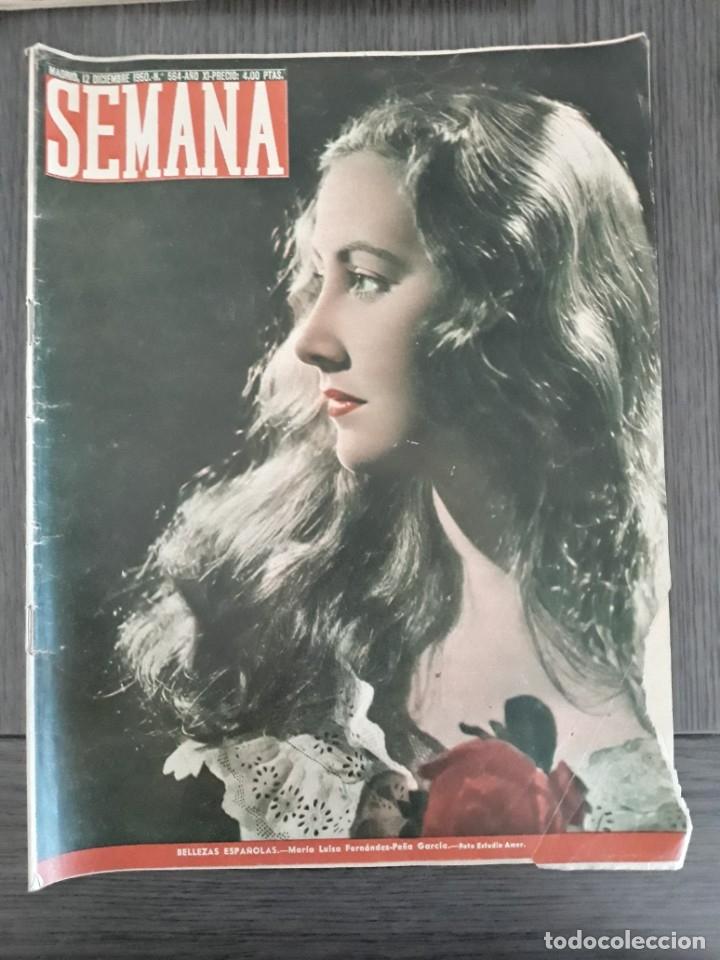 Coleccionismo de Revistas y Periódicos: Lote de 14 revistas Semana del 1950 - Madrid, Semana Año XI – 1950 - Precio: 4 PTAS. - Foto 15 - 174456717