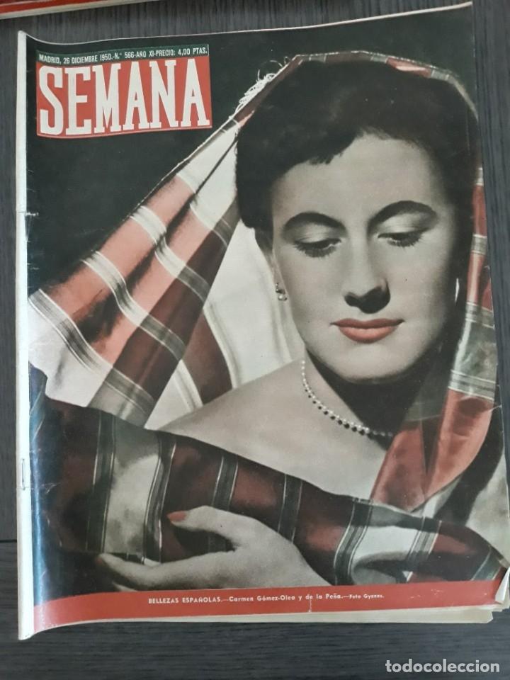 Coleccionismo de Revistas y Periódicos: Lote de 14 revistas Semana del 1950 - Madrid, Semana Año XI – 1950 - Precio: 4 PTAS. - Foto 17 - 174456717