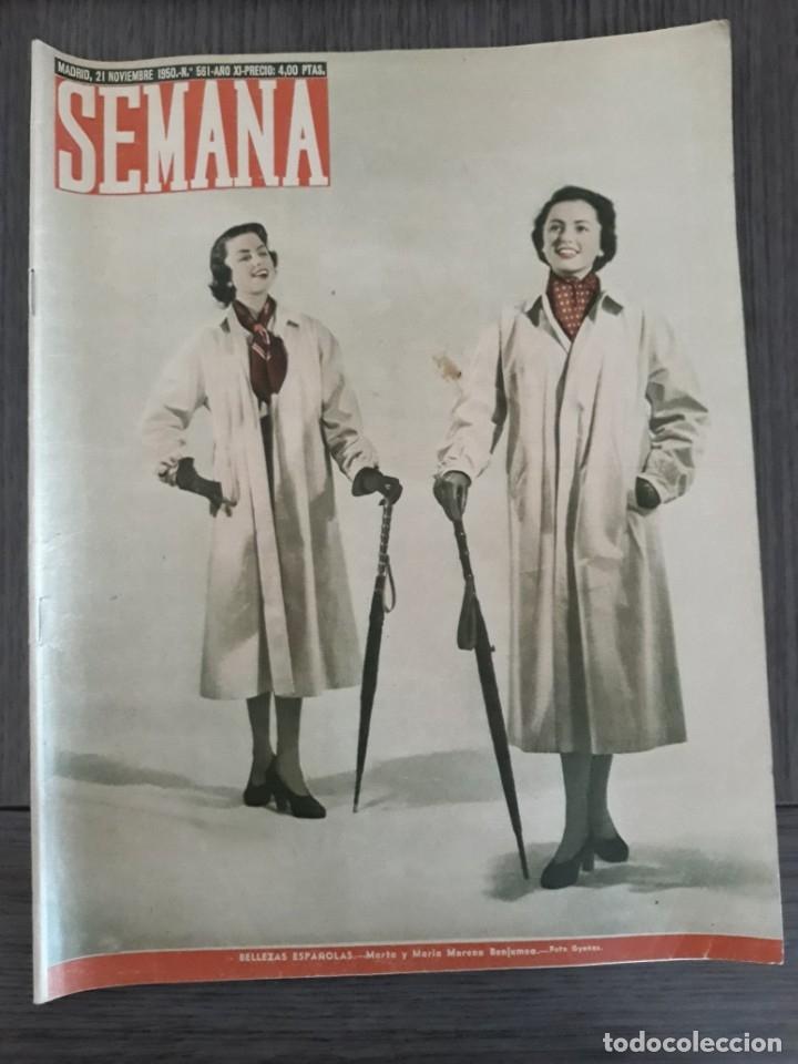 Coleccionismo de Revistas y Periódicos: Lote de 14 revistas Semana del 1950 - Madrid, Semana Año XI – 1950 - Precio: 4 PTAS. - Foto 19 - 174456717