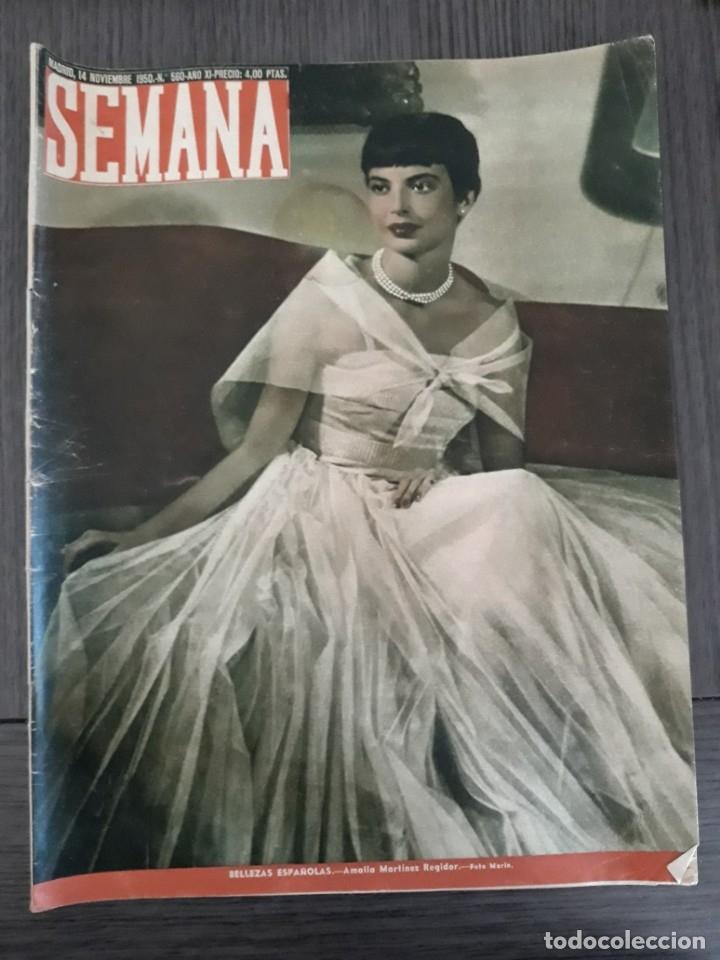 Coleccionismo de Revistas y Periódicos: Lote de 14 revistas Semana del 1950 - Madrid, Semana Año XI – 1950 - Precio: 4 PTAS. - Foto 21 - 174456717