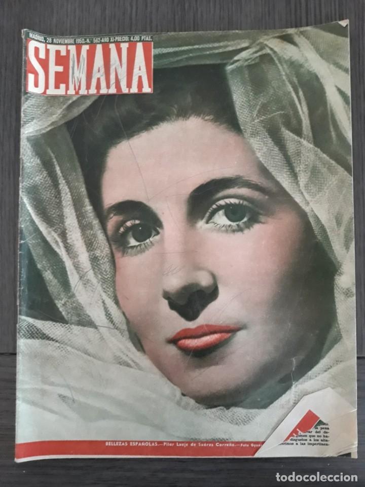 Coleccionismo de Revistas y Periódicos: Lote de 14 revistas Semana del 1950 - Madrid, Semana Año XI – 1950 - Precio: 4 PTAS. - Foto 23 - 174456717