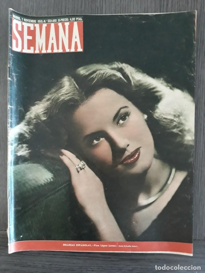 Coleccionismo de Revistas y Periódicos: Lote de 14 revistas Semana del 1950 - Madrid, Semana Año XI – 1950 - Precio: 4 PTAS. - Foto 27 - 174456717
