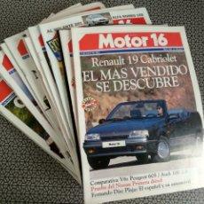 Coleccionismo de Revistas y Periódicos: LOTE 24 REVISTAS MOTOR 16 AÑO 1992. Lote 174487295