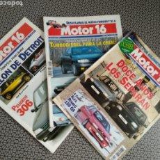 Coleccionismo de Revistas y Periódicos: LOTE 3 REVISTAS MOTOR 16 AÑO 1993. Lote 174487694
