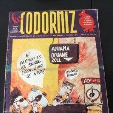 Coleccionismo de Revistas y Periódicos: REVISTA: LA CODORNIZ - 27 MARZO 1977. Lote 174511452