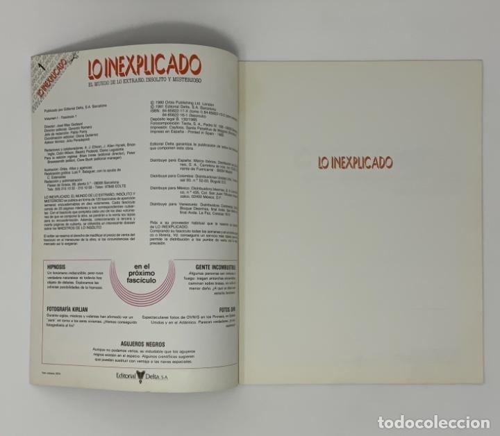 Coleccionismo de Revistas y Periódicos: LO INEXPLICADO Nº 1, 3, 4, 5 - Foto 3 - 174517979