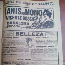 Collezionismo di Riviste e Giornali: ANIS DEL MONO, JEREZ LUKOL, ROLLETTE KRAUSS, ANUNCIOS PUBLICITARIOS. HOJA DE REVISTA 1923 RECORTE. Lote 174530858