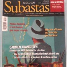Coleccionismo de Revistas y Periódicos: REVISTA SUBASTAS SIGLO XXI. Lote 174548814