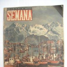Coleccionismo de Revistas y Periódicos: REVISTA SEMANA Nº NÚMERO 9 / 23 ABRIL 1940 NARVIK SEGUNDA 2 GUERRA MUNDIAL. Lote 174623987