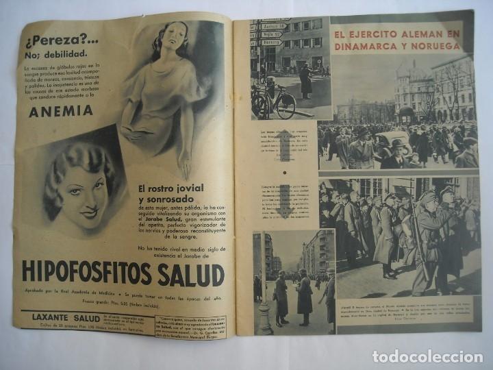 Coleccionismo de Revistas y Periódicos: REVISTA SEMANA Nº NÚMERO 9 / 23 ABRIL 1940 NARVIK SEGUNDA 2 GUERRA MUNDIAL - Foto 2 - 174623987