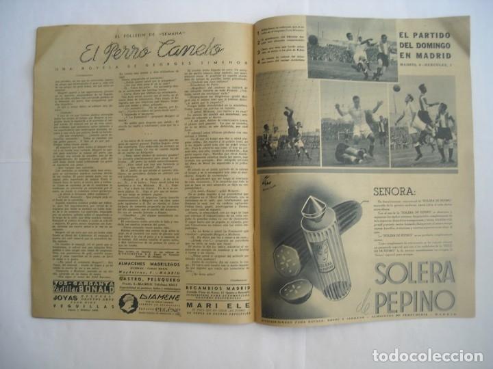 Coleccionismo de Revistas y Periódicos: REVISTA SEMANA Nº NÚMERO 9 / 23 ABRIL 1940 NARVIK SEGUNDA 2 GUERRA MUNDIAL - Foto 6 - 174623987