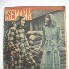 Coleccionismo de Revistas y Periódicos: REVISTA SEMANA AÑO 1 Nº NÚMERO 1 / 27 DE FEBRERO DE 1940 SEGUNDA GUERRA MUNDIAL. Lote 174633905