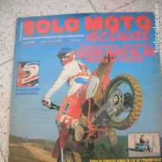 Coleccionismo de Revistas y Periódicos: REVISTA SOLO MOTO ACTUAL N,658 DE DICIEMBRE DE 1988. Lote 174855960