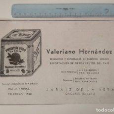 Coleccionismo de Revistas y Periódicos: PUBLICIDAD REVISTA ORIGINAL AÑOS 30. PIMENTON MOLIDO LA DALIA,VALERIANO HERNANDEZ, JARAIZ DE LA VERA. Lote 174883565