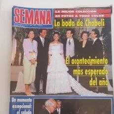 Coleccionismo de Revistas y Periódicos: REVISTA SEMANA.Nº 2797. 22 SEPT 1993.BODA DE CHABELI. EL ACONTECIMIENTO MAS ESPERADO DEL AÑO. TDKR64. Lote 174903762