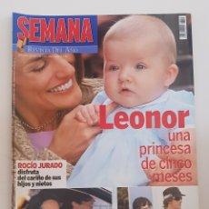 Coleccionismo de Revistas y Periódicos: REVISTA SEMANA. Nº 3455. 26 ABRIL 2006. LEONOR. UNA PRINCESA DE 5 MESES/ ROCIO JURADO DISFRU. TDKR64. Lote 174907238