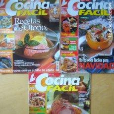 Coleccionismo de Revistas y Periódicos: LOTE 3 REVISTAS COCINA FÁCIL NOS. 88 - 90 - 99. Lote 174920294