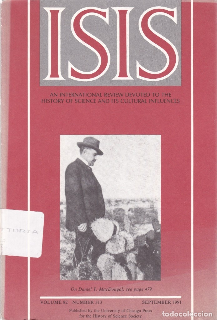Coleccionismo de Revistas y Periódicos: ISIS - VOLUME 82 - NUMBER 313 / SEPTEMBER 1991 - A JOURNAL OF THE HISTORY OF SCIENCE SOCIETY - Foto 1 - 175013674