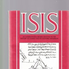 Coleccionismo de Revistas y Periódicos: ISIS - VOLUME 81 - NUMBER 308 / SEPTEMBER 1990 - A JOURNAL OF THE HISTORY OF SCIENCE SOCIETY. Lote 175013739