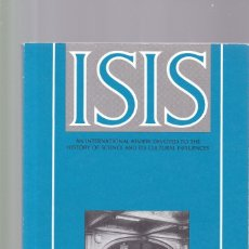Coleccionismo de Revistas y Periódicos: ISIS - VOLUME 82 - NUMBER 314 / DECEMBER 1991 - A JOURNAL OF THE HISTORY OF SCIENCE SOCIETY. Lote 175014042