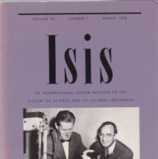 Coleccionismo de Revistas y Periódicos: ISIS - VOLUME 83 - NUMBER 1 / MARCH 1992 - A JOURNAL OF THE HISTORY OF SCIENCE SOCIETY. Lote 175016844