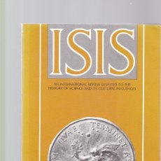 Coleccionismo de Revistas y Periódicos: ISIS - VOLUME 81 - NUMBER 307 / JUNE 1990 - A JOURNAL OF THE HISTORY OF SCIENCE SOCIETY. Lote 175024558