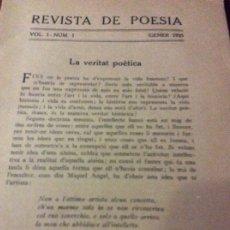 Coleccionismo de Revistas y Periódicos: REVISTA POESÍA 1925. Lote 175077023