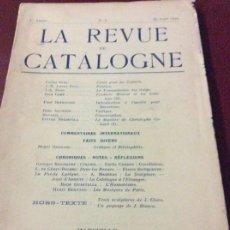 Coleccionismo de Revistas y Periódicos: LA REVUE DE CATALOGNE 1929. Lote 175077259