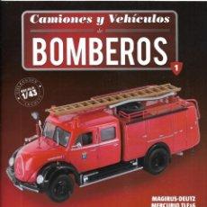 Coleccionismo de Revistas y Periódicos: == Q04 - FASCICULO Nº 1 - CAMIONES Y VEHICULOS DE BOMBEROS. Lote 175195102