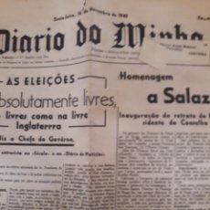 Coleccionismo de Revistas y Periódicos: JORNAL DIARIO DO MINHO 1963 PORTUGAL. Lote 175210739