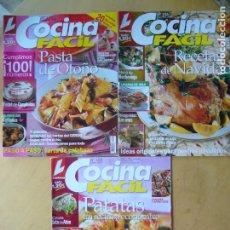 Coleccionismo de Revistas y Periódicos: LOTE 3 REVISTAS COCINA FACIL NOS. 100 - 101 - 102. Lote 175356257