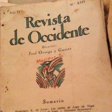 Coleccionismo de Revistas y Periódicos: REVISTA OCCIDENTE 1924 LOPEZ DE VEGA. Lote 175463698