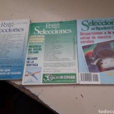 Coleccionismo de Revistas y Periódicos: LOTE 3 REVISTAS SELECCIONES READER'S DIGEST , ENERO 1992, JUMIO 1988 Y JUNIO 1990. Lote 175588524