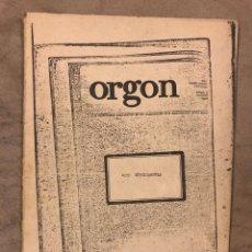 Colecionismo de Revistas e Jornais: ORGON, ARTE EXPERIMENTAL N° 1 (MADRID 1976). HISTÓRICO FANZINE ORIGINAL. Lote 175665059